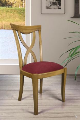 Silla Sebastián fabricada en madera de roble macizo estilo Louis Philippe