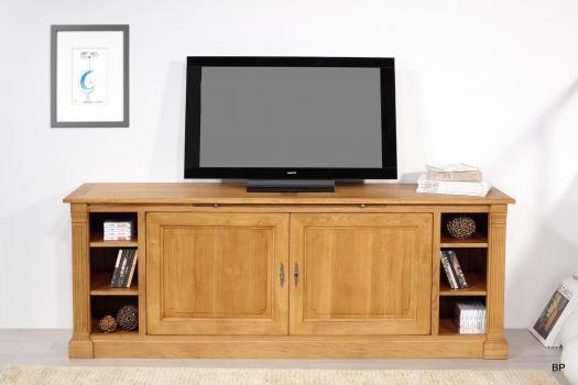 Mueble de TV Bastien fabricado en madera de Roble macizo de estilo Directoire