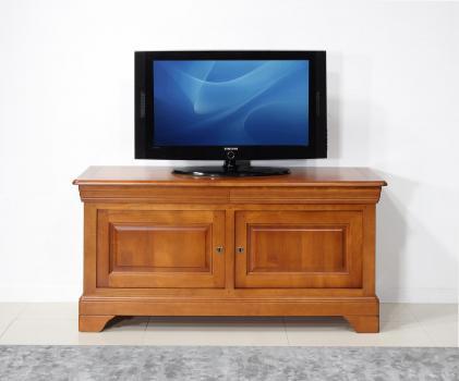 Mueble de TV Anna fabricado en madera maciza de cerezo en estilo Louis Philippe