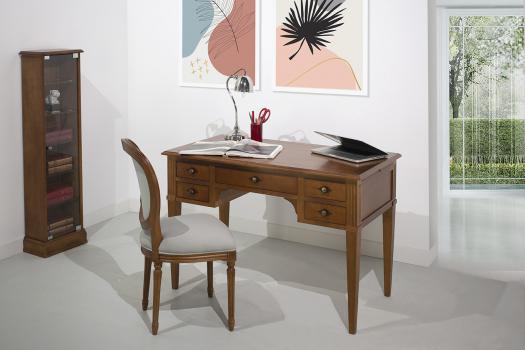Escritorio Julia fabricado en madera maciza de cerezo en estilo Directoire