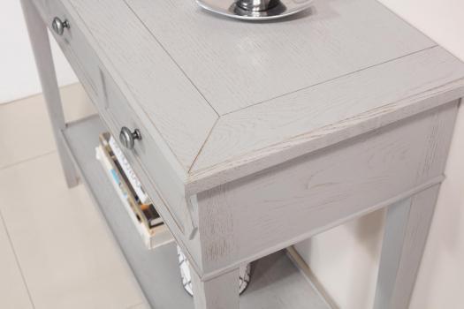 Consola Mathieu fabricada en madera de roble en estilo Directoire