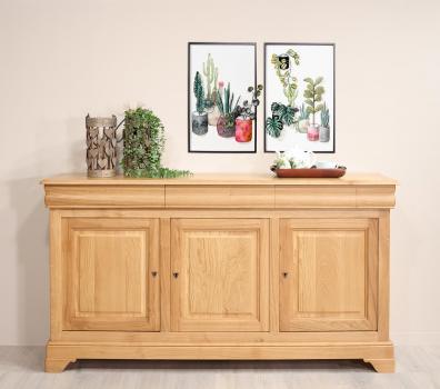 Aparador Fabricado en madera de roble macizo en estilo Louis Philippe