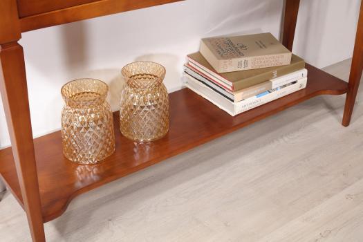 Consola Mathilde fabricada en madera de cerezo macizo de estilo Directoire