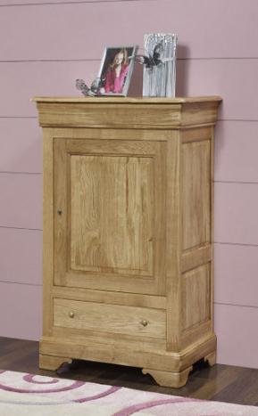 Recibidor Jean-Baptiste fabricado en madera de roble macizo en estilo Louis Philippe
