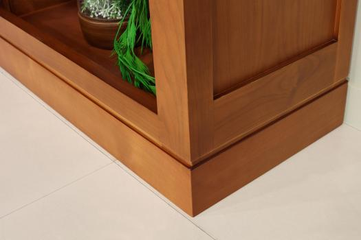 Biblioteca Sylvia fabricada en madera maciza de cerezo con 4 módulos en estilo Contemporáneo