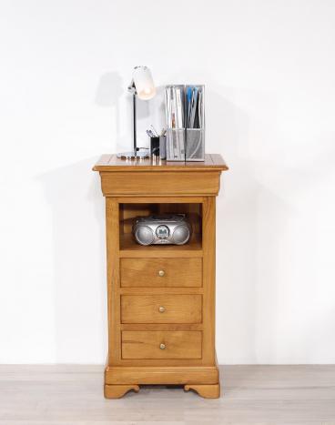 Recibidor Antoine fabricado en madera de roble macizo de estilo Louis Philippe